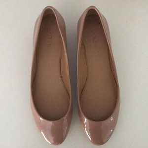 J. Crew blush and gold flats